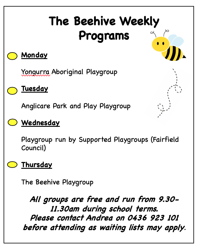 weekly playgroups
